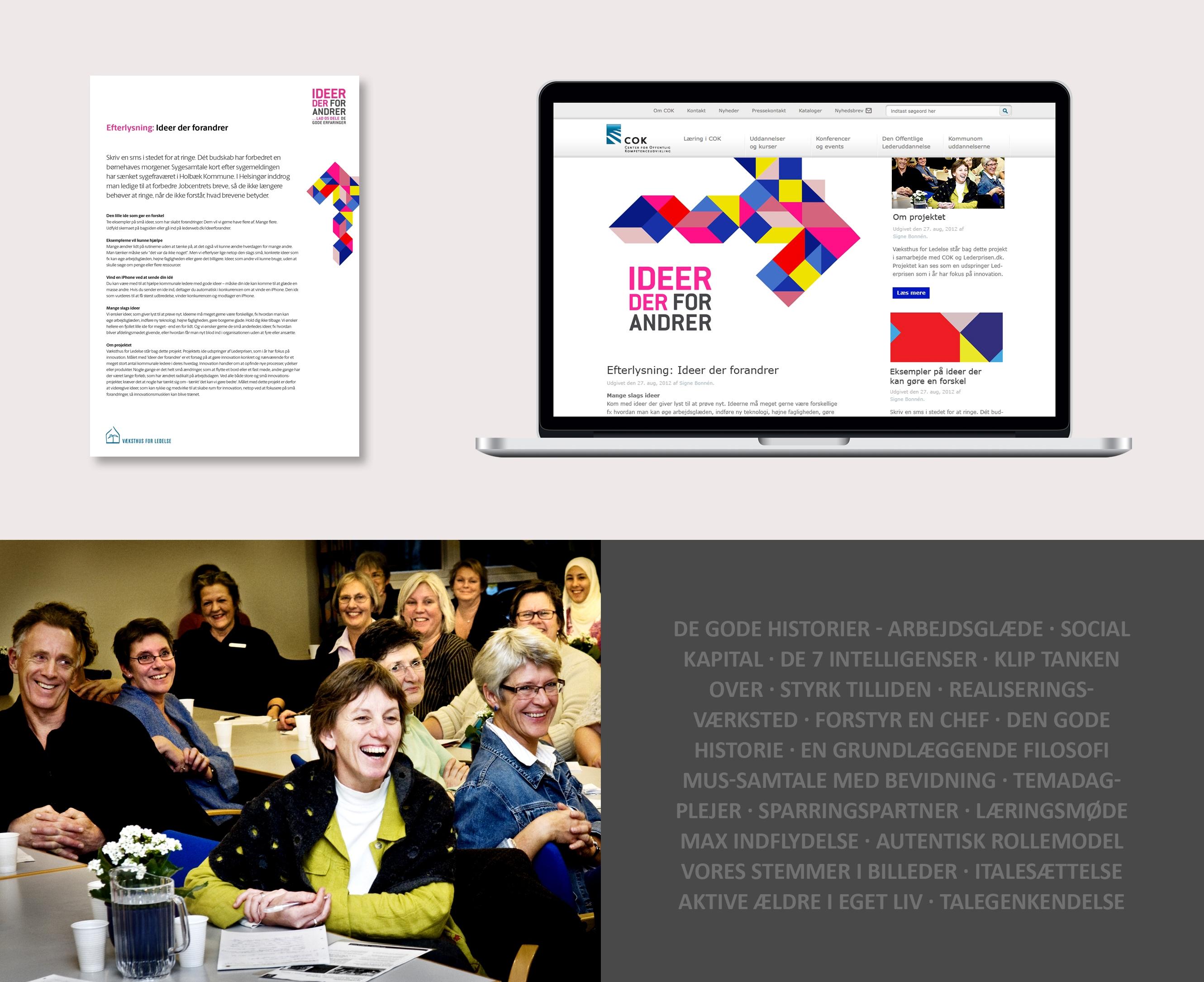 Kampagnedesign for Væksthus for ledelse